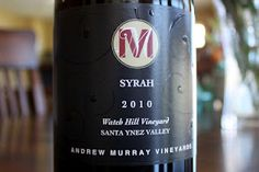 Andrew Murray Vineyard Watch Hill Syrah 2010 - A Truly Worthy Wine For A Saturday Splurge. $23, read the rest...