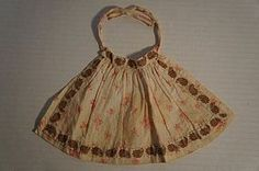Nice and early dolls apron with tiny stitches 1870