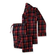 Classic Women's Plaid Flannel Pajamas ($179) ❤ liked on Polyvore featuring intimates, sleepwear, pajamas, plaid flannel pajamas, plaid pajamas, plaid pjs, flannel pjs and flannel sleepwear