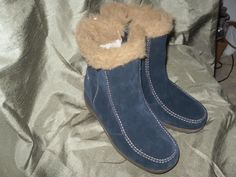 Boots Shoes BLUE SUEDE SPORTO LOW BOOTS SIZE 5 1/2 M.  STITCHING HEAVY DUTY. #Sporto #Boots #WalkingHikingWORK