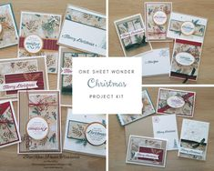 """One Sheet Wonder """"Christmas"""" Project Kit (Blue Rose Paper Treasures) Stampin Up Christmas, Christmas Cards, Xmas, Bridge Card, One Sheet Wonder, Stamp Pad, Fun Fold Cards, Fall Cards, Paper Cards"""