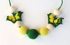 Handmade Hand crochet   Petite  Nursing Necklace by creativeladys, $15.00