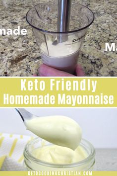 Its so easy to make your own mayonnaise and this one is low carb, so its perfect for the Keto diet. A light olive oil is used, but you can also make it using avocado oil, or other Keto friendly oil you like. Its also loaded with healthy fats! Keto Diet Book, Diet Food List, Keto Diet Plan, Food Lists, Keto Mayonnaise Recipe, Homemade Mayonnaise, Ketogenic Recipes, Diet Recipes, Healthy Recipes