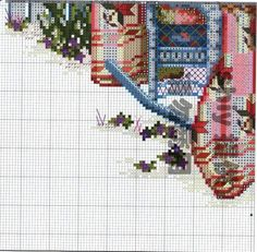 """""""Peony Paradise ~ Quilts From The Garden"""" a cross stitch pattern by Paula Vaughan.   Saved from elypetrova.gallery.ru"""