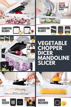 Vegetable Chopper Dicer Mandoline Slicer - Food Chopper Vegetable Spiralizer Vegetable Slicer - Onion Chopper Salad Chopper Veggie Chopper Vegetable Cutter Food Slicer 11 Blades. #Amazon #AffiliateLink