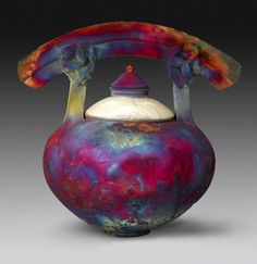 "Raku ware (楽焼 raku-yaki?) is a type of Japanese pottery that is traditionally used in the Japanese tea ceremony~  Raku means ""enjoyment"", ""comfort"" or ""ease"" and is derived from Jurakudai"