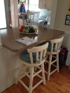 DIY refurnished chairs with spray paint
