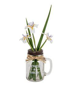Love this 'Flowers & Garden' Glass Jar Vase by Designs Combined Inc. on #zulily! #zulilyfinds