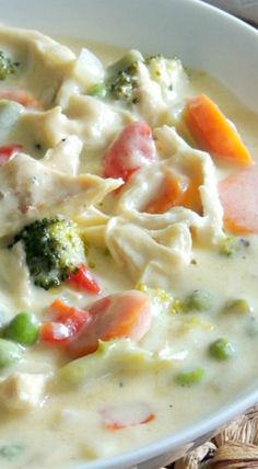 cocina Cheesy Chicken and Vegetable Soup Chowder Recipes, Chili Recipes, Soup Recipes, Kraft Recipes, Casserole Recipes, Chicken Recipes, Soup Kitchen, Kitchen Recipes, Cooking Recipes