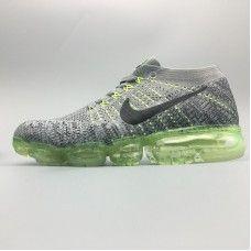 189beeedc0 DiscountNike Air VaporMax - Cheap Nike Air Max 2018 Running Shoes Grey  Green Men Hot