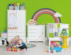 Bright, colourful fun. Style your own rainbow nursery.