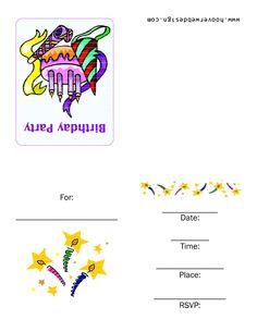 printable birthday invitations online