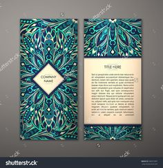 Flyer With Floral Mandala Pattern And Ornaments. Vector Flyer Oriental Design Layout Template, Size. Islam, Arabic, Indian, Ottoman Motifs. Front Page And Back Page. Easy To Use And Edit. - 396912997 : Shutterstock