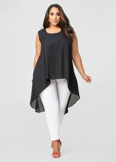 Split Back Hi-Lo Blouse Split Back Hi-Lo Blouse