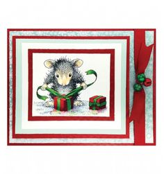 Stampendous House-Mouse Cling Stamp - Gifts to Tie HMCV02 from Joanna Sheen