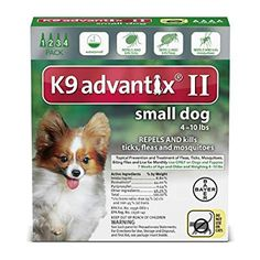 Advantix II Flea And Tick Prevention For Dogs, Dog Flea And Tick Treatment For Small Dogs lbs, 6 Monthly Applications Large Dogs, Small Dogs, Nursing Supplies, Pet Supplies, Tick Control, Can Dogs Eat, Dog Diapers