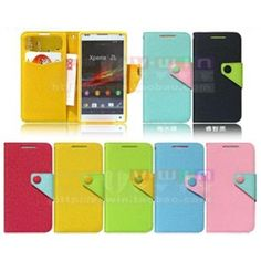 V-win-case Cross Pattern PU Hit Color Series Hard Case For Sony Xperia ZL