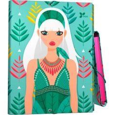 """Carpeta Tres Solapas Archivador de la nueva colección Noa 2017 en su serie """"Hojas"""".  #papeleria #materialescolar #materialdeoficina #Grafoplás #diseño #verde #chica"""
