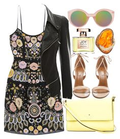 """Dot Rocker"" by egordon2 ❤ liked on Polyvore featuring Needle & Thread, Topshop, Kate Spade, Aquazzura and Jean Patou"