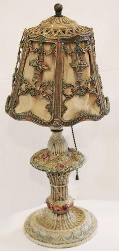 vintage metal lamp ... love these old things!