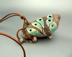 Ocarina Ceramic flute Ocarina pendant by BlueStoneSurramic on Etsy