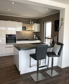 Kitchen white and black