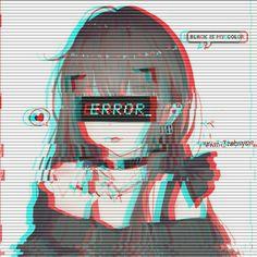 vaporwave girl Save me Cre: Kim Taehyung Dark Anime Girl, Cool Anime Girl, Cute Anime Pics, Beautiful Anime Girl, Kawaii Anime Girl, Anime Art Girl, Manga Girl, Anime Neko, Sad Anime