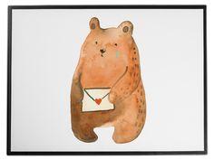 Schreibtischunterlage Liebesbrief-Bär aus Kunststoff  Schwarz - Das Original von Mr. & Mrs. Panda.  Die Schreibtischunterlage wird in Deutschland exklusiv für Mr. & Mrs. Panda gefertigt und ist aus hochwertigem Kunststoff hergestellt. Eine ganz tolle Besonderheit ist die einzigartige Einlegelasche an der Seite, mit der man das Motiv kinderleicht gegen andere Motive von Mr. & Mrs. Panda tauschen kann.    Über unser Motiv Liebesbrief-Bär  Unser süßer Sehnsucht-Bär hat nur eine Botschaft in…
