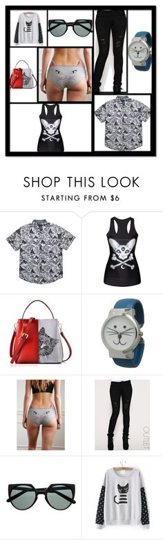"""""""sYLVESTER"""" by anja264 on Polyvore featuring Roark Revival, Olivia Pratt, Forever 21, Arrogant Cat, WithChic, men's fashion, menswear, cute, casual and cat"""