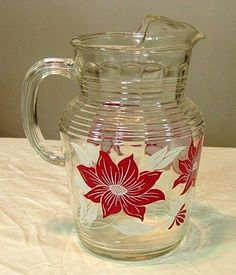 Vintage Ice-Lip Tea Pitcher ~ All about some sweet tea in the South! We normally had tea on Sundays.