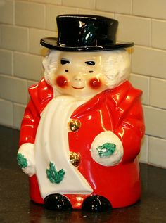 Uncle Mistletoe Cookie Jar by Regal China for Marshall Fields 1951