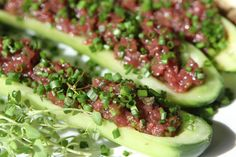Duck breast tartare, perfect party snack!