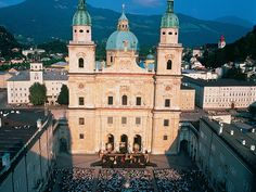 Alongside the river Salzbach in Austria, there exists a beautiful city named Salzburg which is situated at the border of Germany Salzburg Austria, Heart Of Europe, Tourist Spots, Dom, Notre Dame, Places To Travel, Taj Mahal, Beautiful Places, To Go