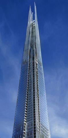 Tour Shard à Londres : le plus haut gratte ciel d'Europe par Renzo Piano