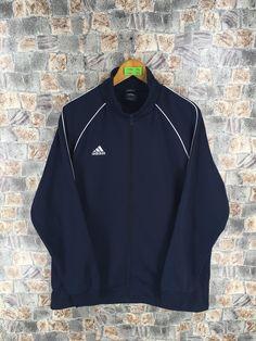 uk availability 2cccd 59833 ADIDAS Track Top Black Jacket Mens Xlarge Vintage 90 s Adidas Equipment  Sportswear Windbreaker Adidas Sports Trainer Jacket Size XL