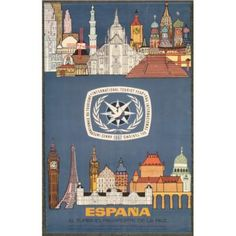 Tourist Year Spain Travel Poster Orig Vintage 1967