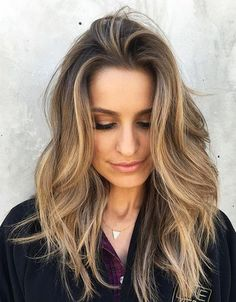 Cheveux Balayage Longues couches