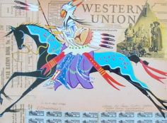 The Ledger Art of George Flett image Native American Horses, Native American Artwork, Native American Artists, American Indian Art, Native American History, Indian Quilt, Animal Graphic, Southwest Art, Indigenous Art