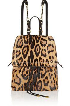 Jerome Dreyfuss Leopard Print Backpack #bag #fashion