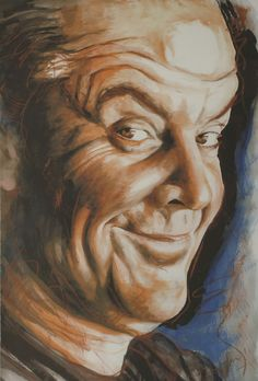 Jack Nicholson by Ronnie Wood