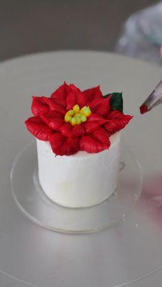 Cake Decorating Frosting, Cake Decorating Designs, Creative Cake Decorating, Cake Decorating Videos, Cake Decorating Techniques, Creative Cakes, Cake Designs, Cookie Decorating, Winter Desserts