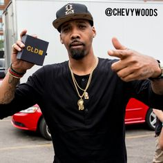 Chevy Woods repping GLD solid gold Jesus Pendant