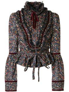 Shop Dsquared2 floral print blouse