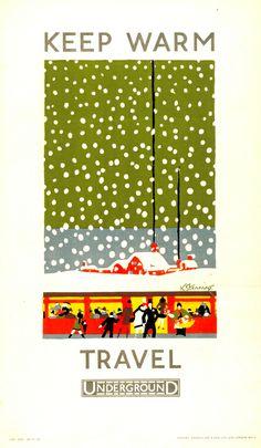 London Underground poster,Kathleen Stenning, 1925