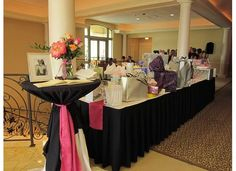 Guest book and gift table displays