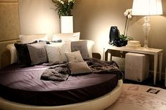 circle bed <3 i totally had one that was black w zebra cushions! it folded into a semi circle couch