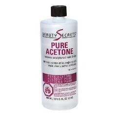 Pure Acetone Manicurist Solvent by Beauty Secrets. $5.99. Allows base coat to adhere better. Removes tips, wraps and sculptured nails quickly and gently. Beauty Secrets Pure Acetone Manicurist Solvent removes sculptured nails and tips.