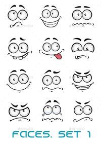 Buy Cartoon Faces with Different Emotions by VectorTradition on GraphicRiver. Cartoon faces with different emotions as happiness, joyful, comics, surprise, sad and fun FLAT SPORTS MASCOTS MEDICIN. Disney Drawings, Cartoon Drawings, Animal Drawings, What Is Digital, Different Emotions, Hand Reference, Cartoon Faces, Cartoon People, Expressions