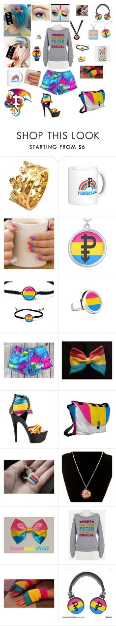 """""""Pansexual pride"""" by lina-dunn ❤ liked on Polyvore featuring Carrera y Carrera and Ellie Shoes"""