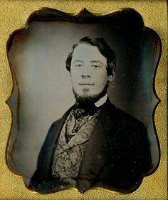 Good facial hair example, as well as the lovely clothing. Late 1840s-early 1850s. Courtesy Charles R. Lemons.